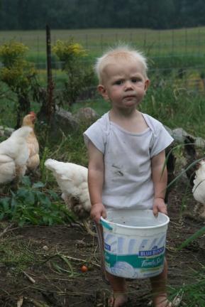 Henry w chickens