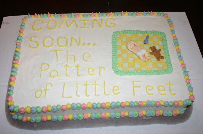 baby shower cake 2 12-8-06 | life with three boys and a splash of