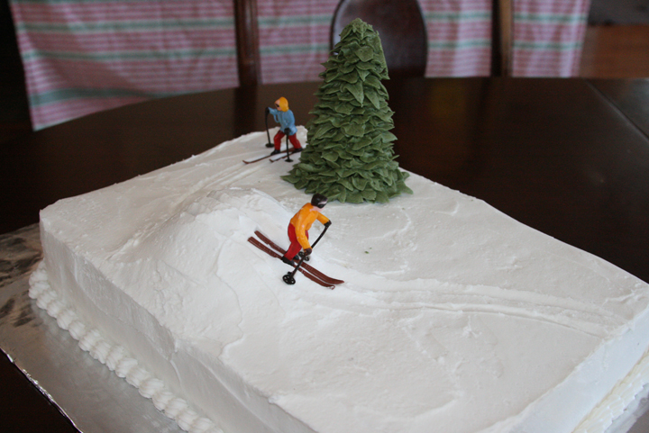 Skiing Cake 3 16 09 Life With Three Boys And A Splash Of