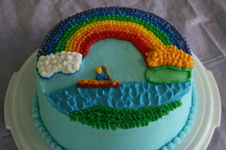 Birthday Cake Ideas Rainbow : birthday rainbow cake 8-23-09 life with three boys and a ...