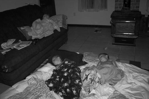 Sleeping LR B&W