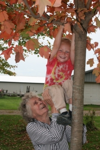 RW bday 4 Grandma Climb Tree