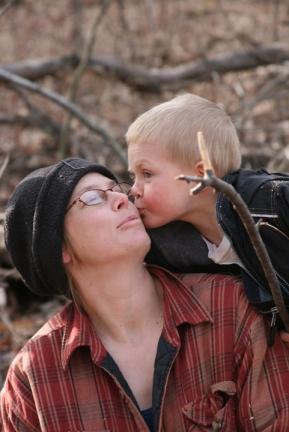 4-4-09 making firewood kiss