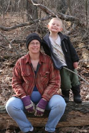 4-4-09 making firewood smiles