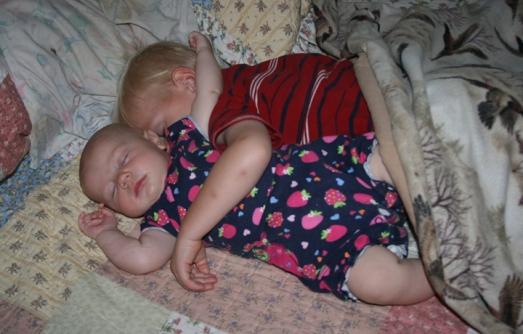 Henry & Nola Mae napping