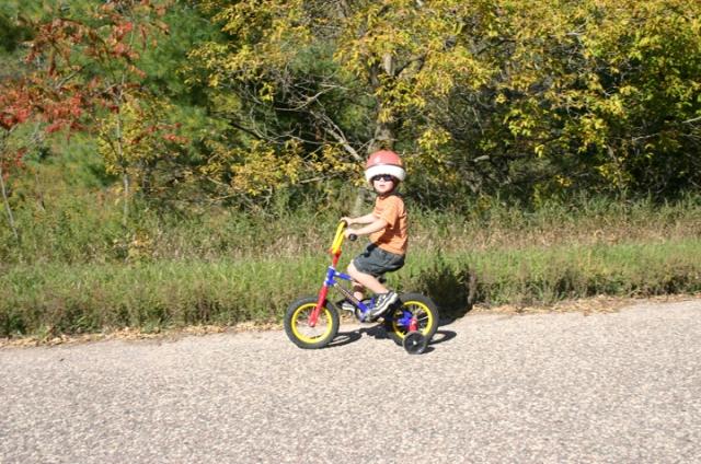 Henry biking