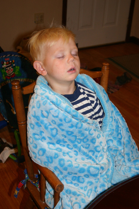 Henry sleeping