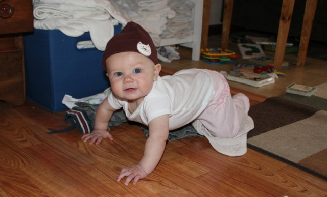 Nola Mae crawling almost