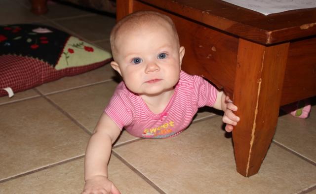Nola Mae crawling