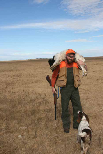 North Dakota hunt tired dog