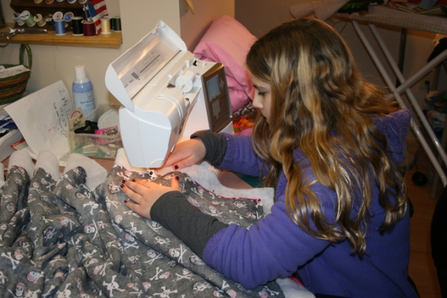 Anika sewing