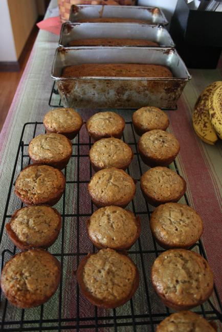 banana bread & muffins