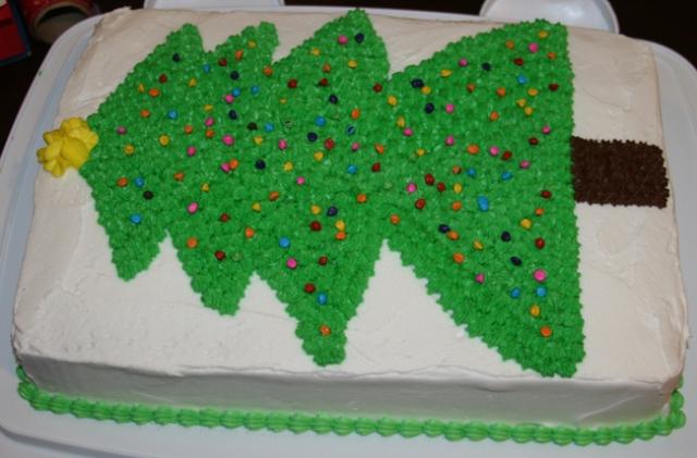 Cake x-mas tree