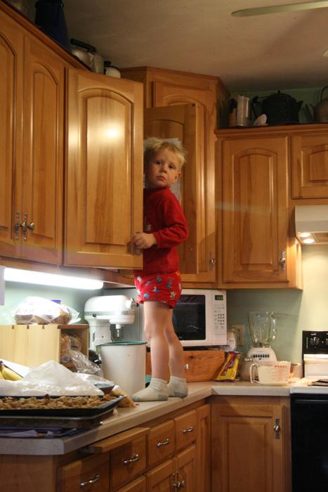 Henry sneaking