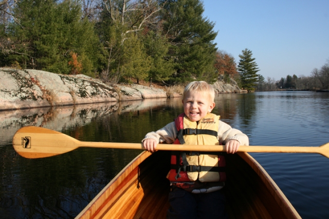 Kayak 1st time out w Henry
