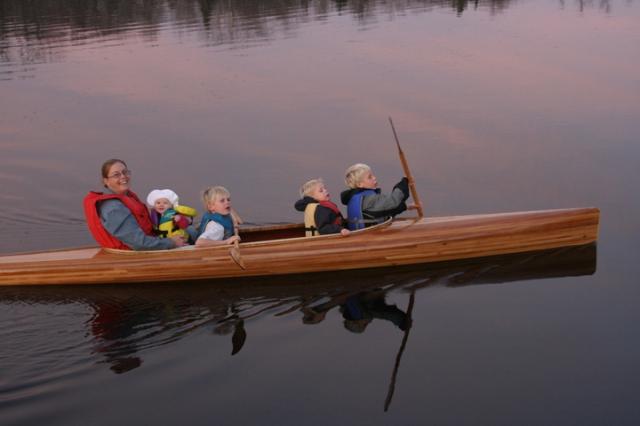 Kayak w all four kids