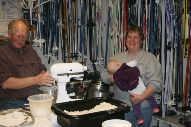 Lefse making Phil & Sue