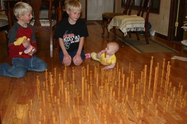 Linclon log towers
