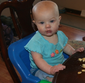 Nola Mae joins the table