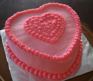 cake heart cake