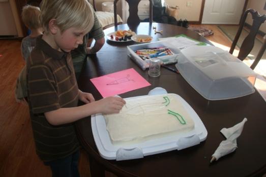 Jack's b-day cake Charlie's design