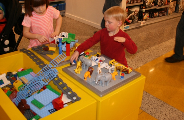 Lego Store little kid play table
