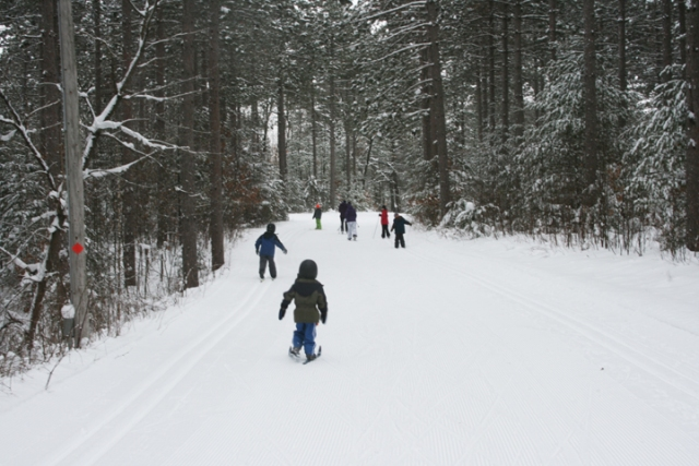skiing w Becca