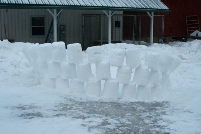 Snow fort melt down 1