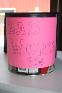 Bad word jar
