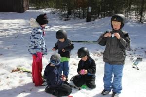 egg hunt on skis