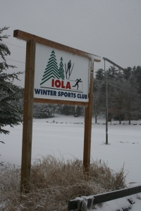Iola Winter Sport Club Sign