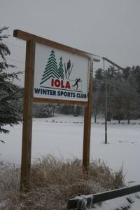 Iola Winter Sport Club Sign