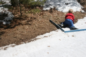 last ski wipe out