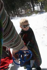 ski pulling