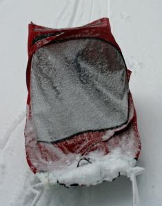 ski sled w snow