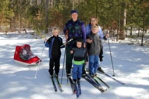 skiing with grandma
