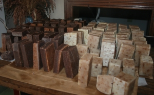Soap bars cut