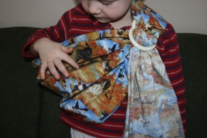 Ring sling for boy