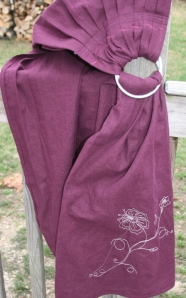 ring sling plum w silver for sale