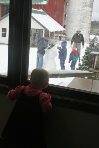 Snowman Window