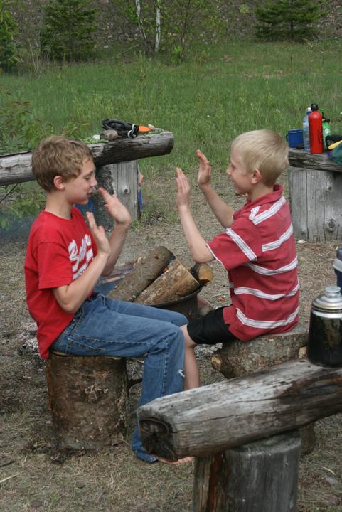 camping gravel pit CB & Erik