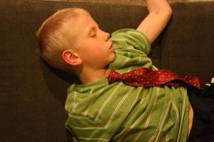 Charlie sleeping tie