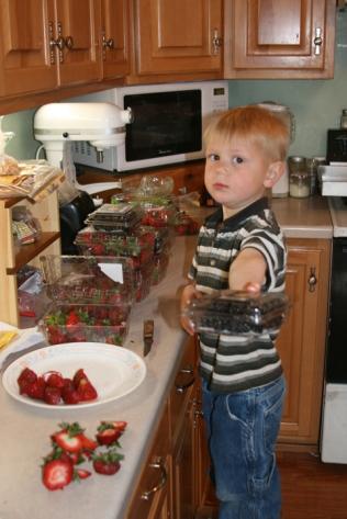 Henry & fruit