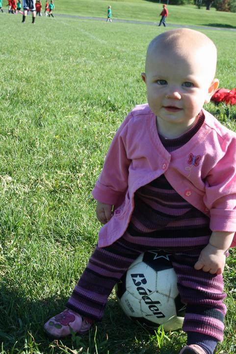 Nola Mae soccer ball