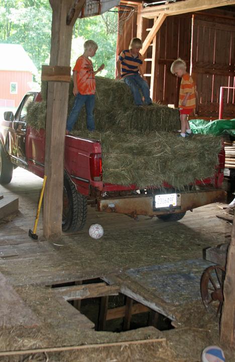 bales boys unloading