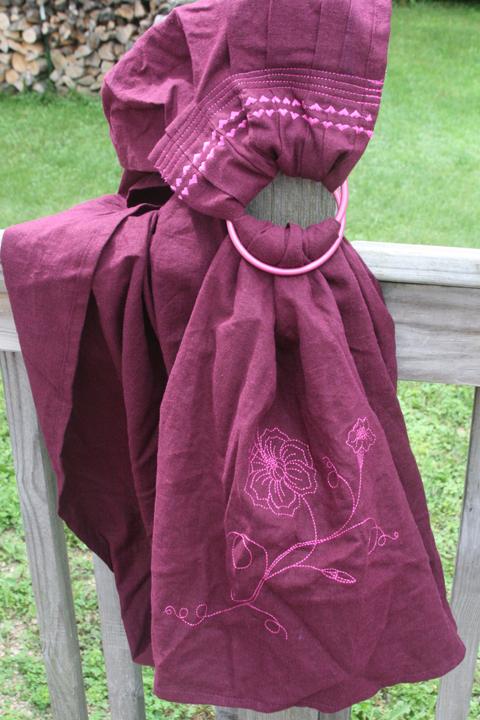 ring sling plum w pink
