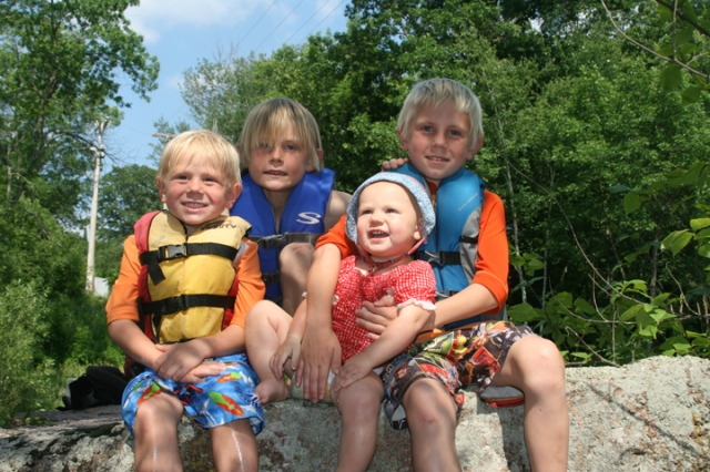 big falls four kids