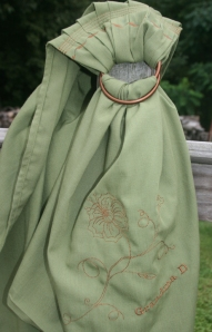 ring sling green w br steph