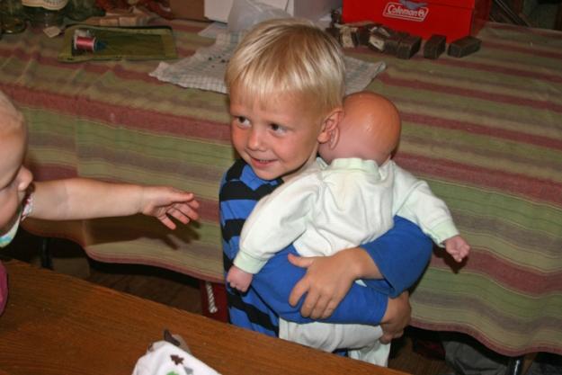 baby doll Henry hug