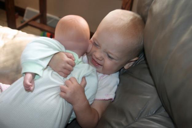 baby doll Nola Mae squeeze